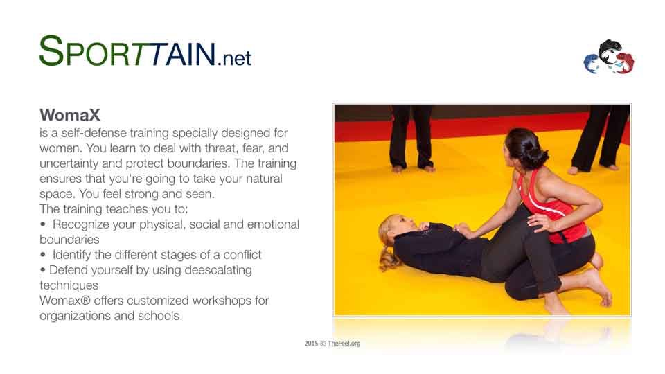 Sporttain WomaX selfdefense training